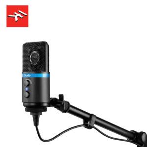 IK Multimedia iRig Mic Studio (Black) Digital Condenser Microphone For IOS, Mac, PC & Android USB Microphone IMG