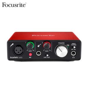 Focusrite Scarlett Solo Audio Interface (2nd Gen) Audio Interface IMG